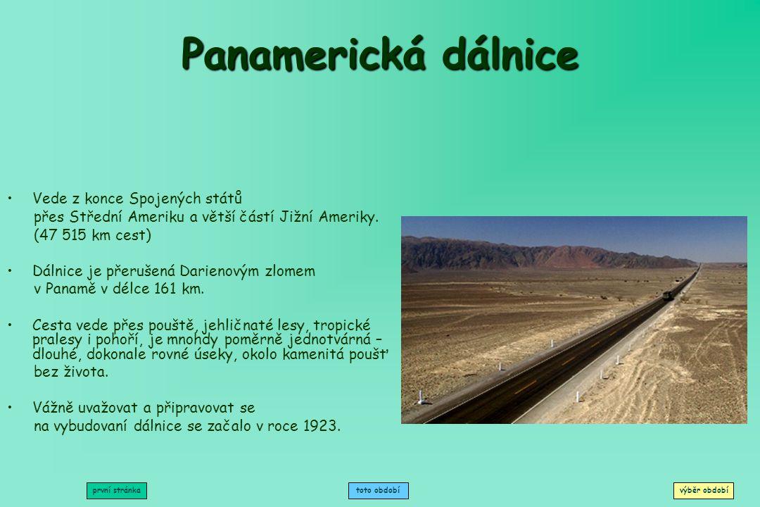 Panamerická dálnice Vede z konce Spojených států