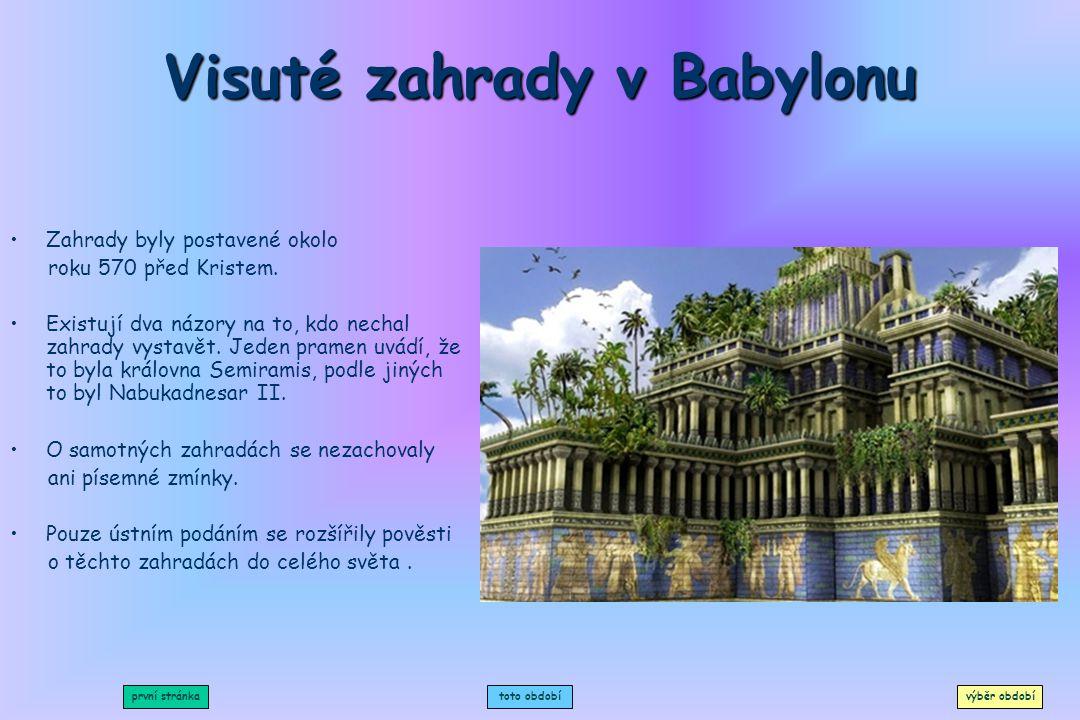 Visuté zahrady v Babylonu