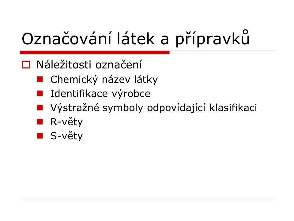Označování látek a přípravků