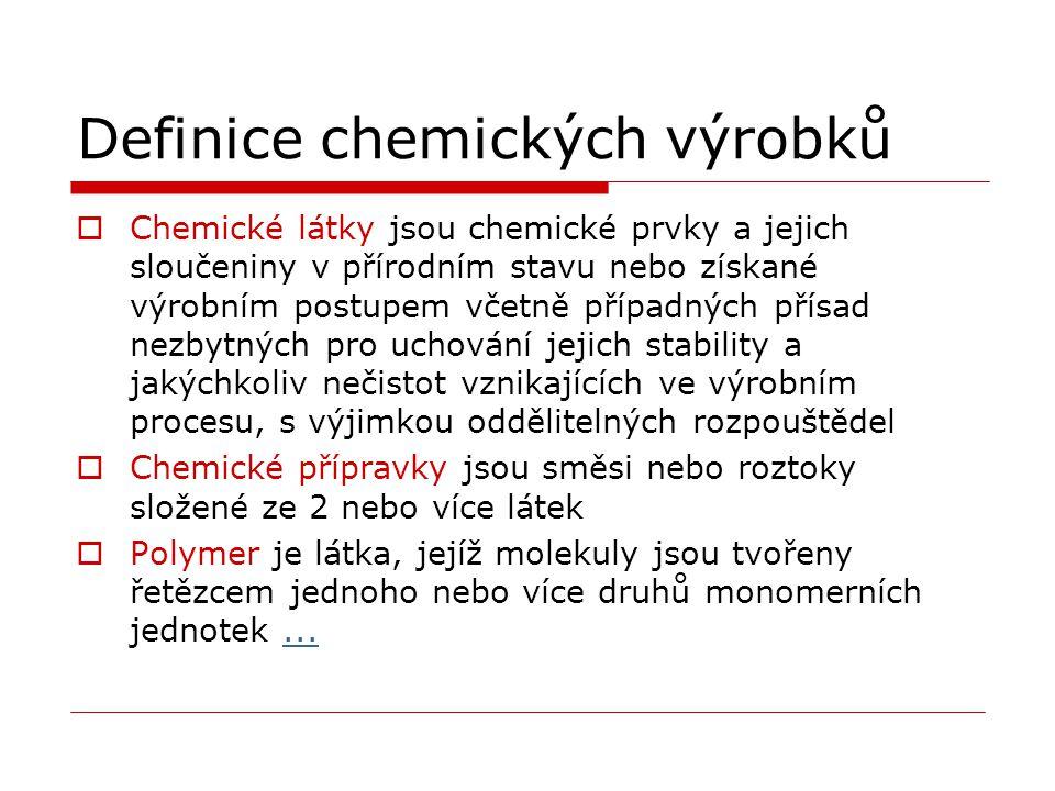 Definice chemických výrobků