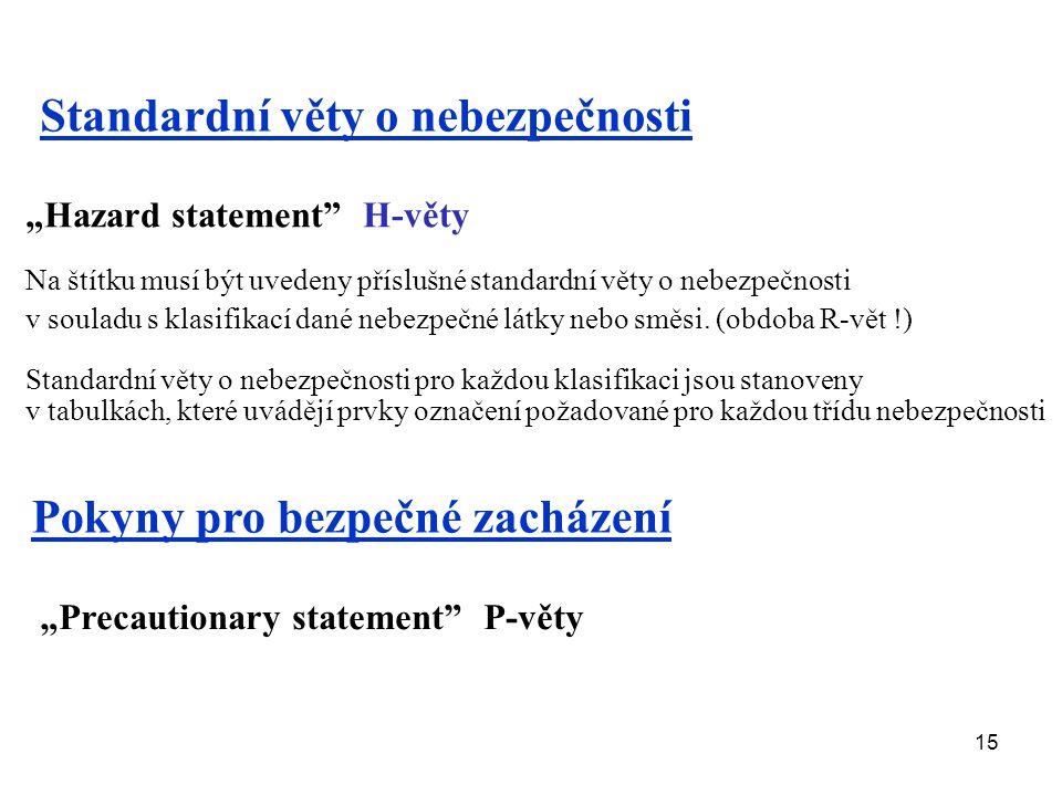 Standardní věty o nebezpečnosti