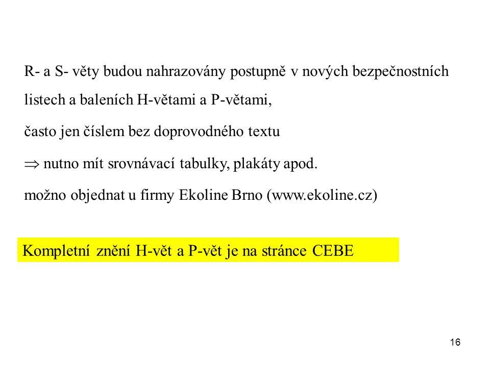 Kompletní znění H-vět a P-vět je na stránce CEBE