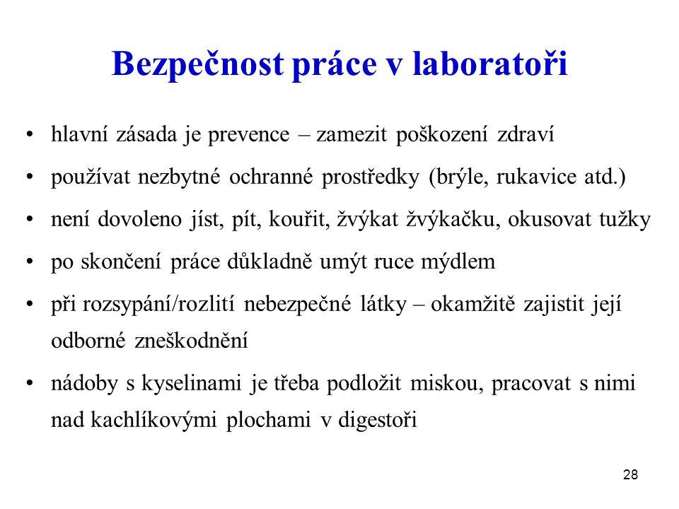 Bezpečnost práce v laboratoři