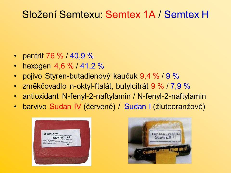 Složení Semtexu: Semtex 1A / Semtex H