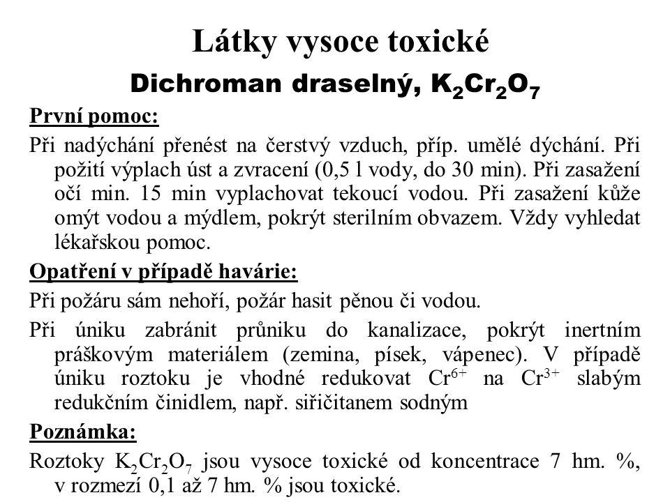Dichroman draselný, K2Cr2O7