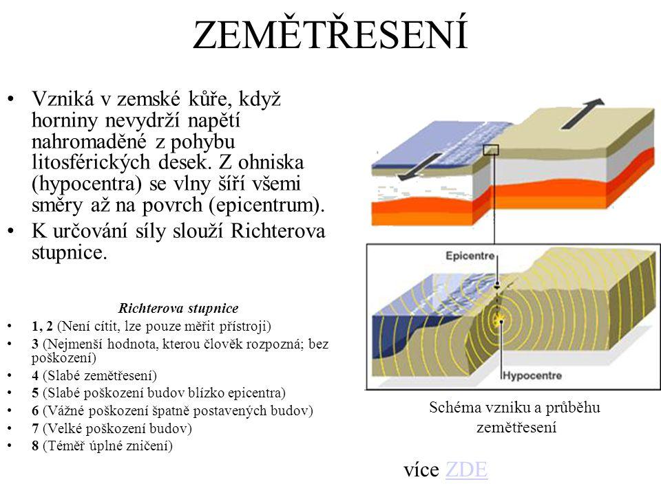 Schéma vzniku a průběhu