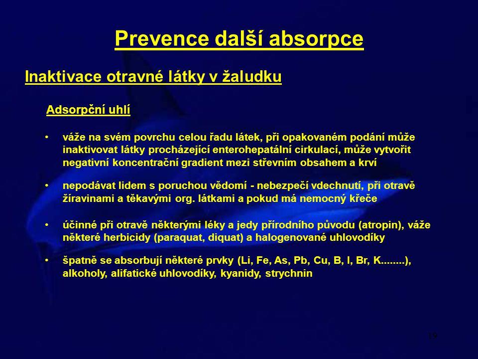 Prevence další absorpce