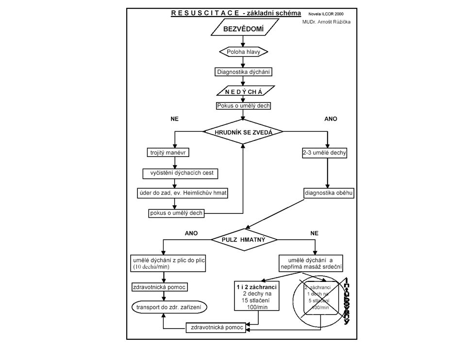 Zajištění životně důležitých fysiologických funkcí