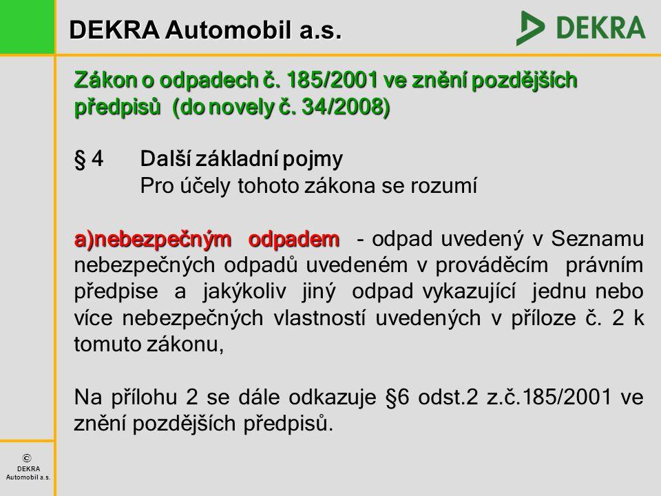 Zákon o odpadech č. 185/2001 ve znění pozdějších předpisů (do novely č