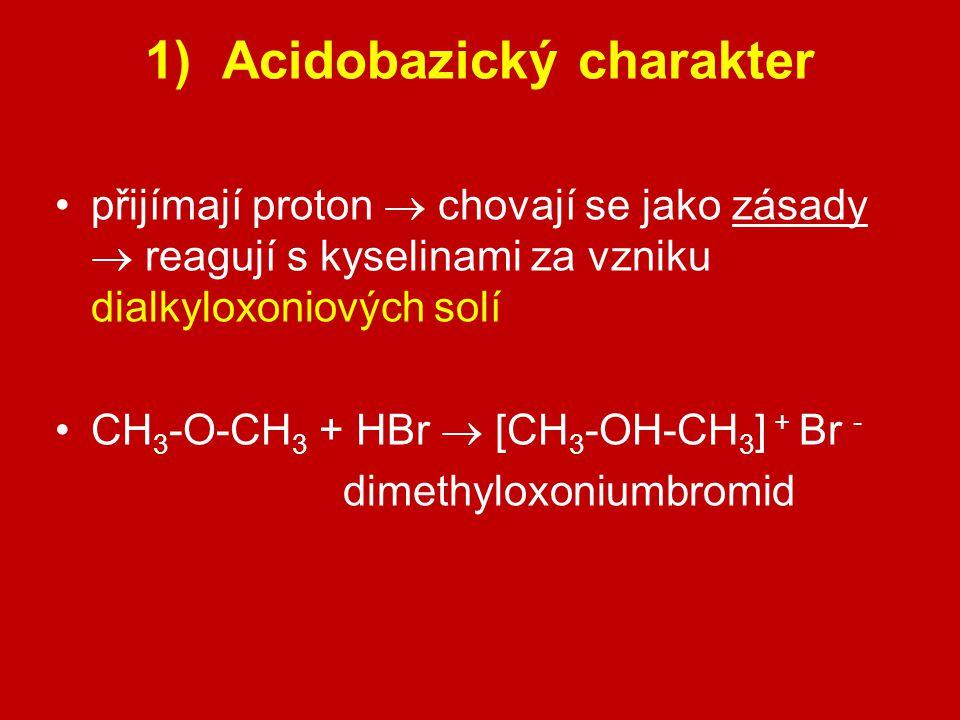 1) Acidobazický charakter