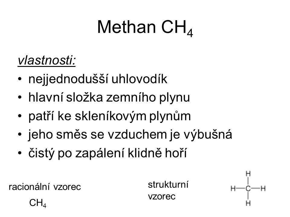 Methan CH4 vlastnosti: nejjednodušší uhlovodík