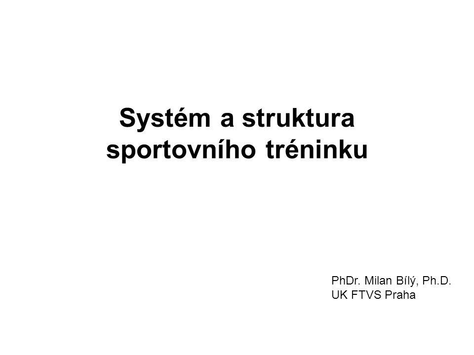 Systém a struktura sportovního tréninku