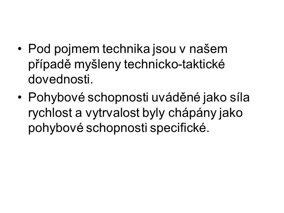 Pod pojmem technika jsou v našem případě myšleny technicko-taktické dovednosti.