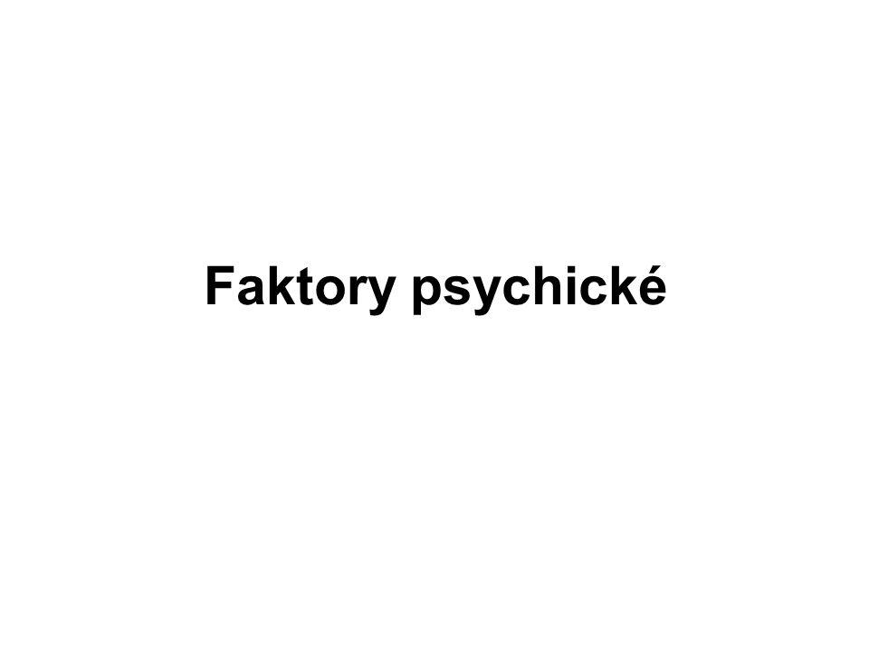 Faktory psychické