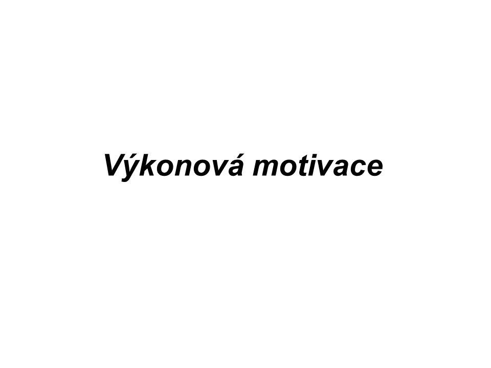 Výkonová motivace