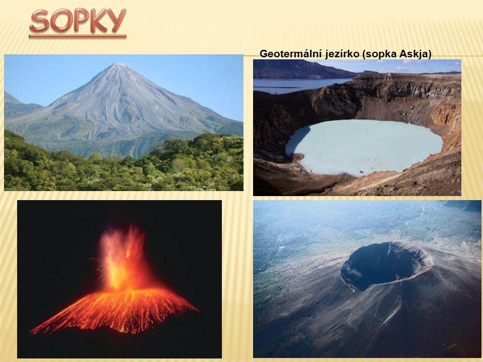 SOPKY Geotermální jezírko (sopka Askja)