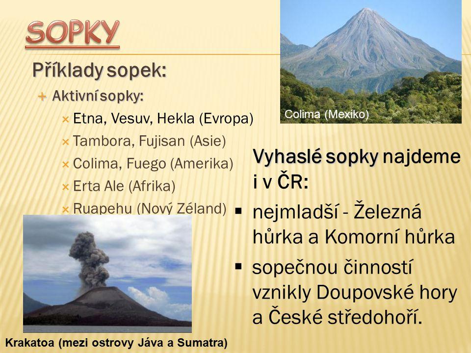 SOPKY Příklady sopek: Vyhaslé sopky najdeme i v ČR: