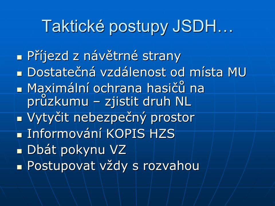 Taktické postupy JSDH…