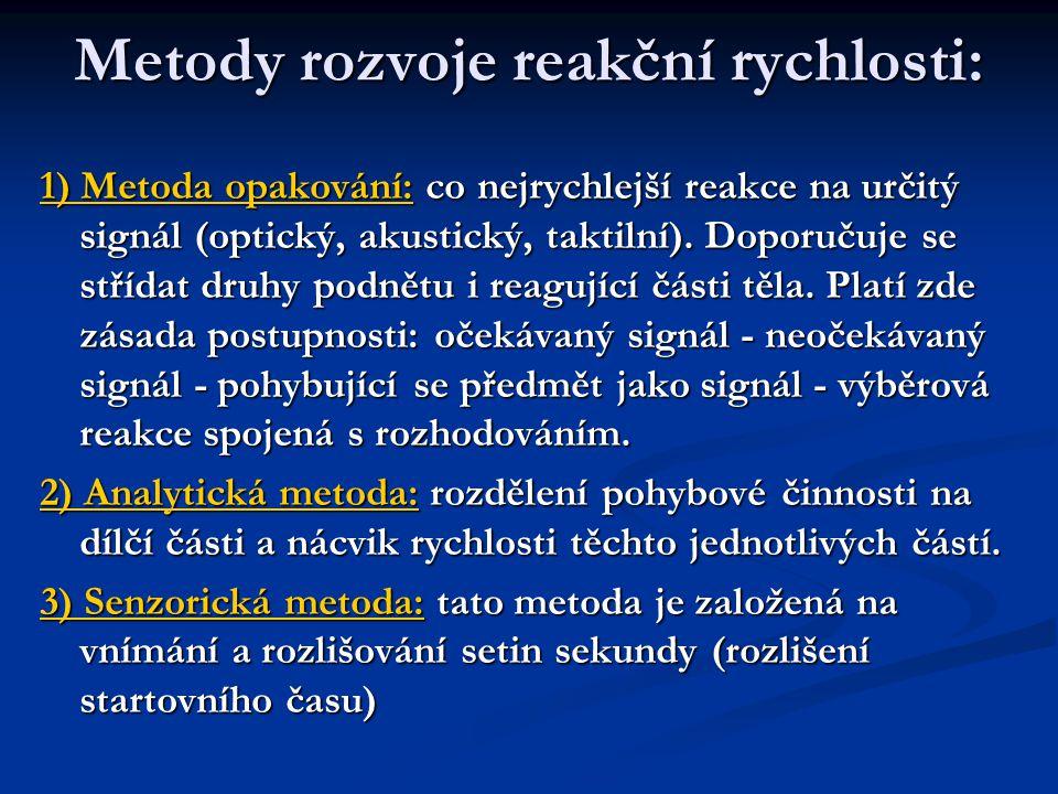 Metody rozvoje reakční rychlosti: