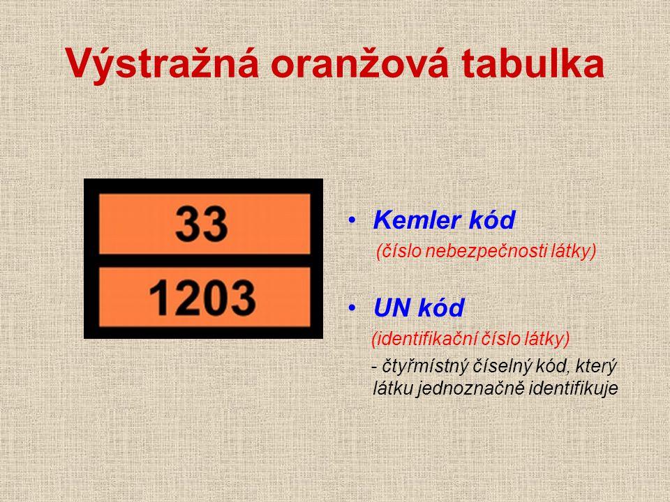 Výstražná oranžová tabulka