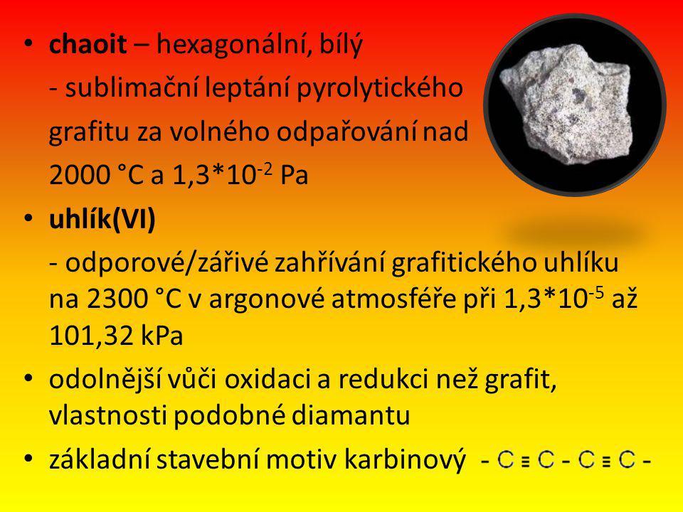 chaoit – hexagonální, bílý