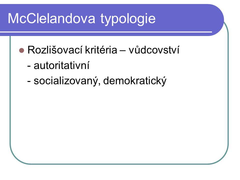 McClelandova typologie