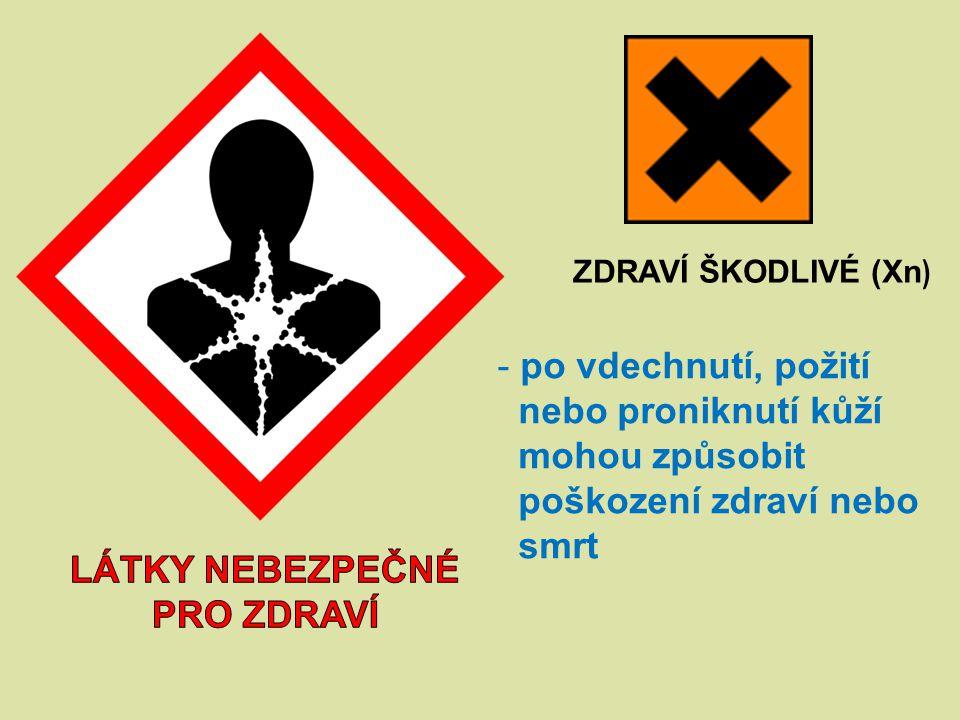 Látky nebezpečné pro zdraví