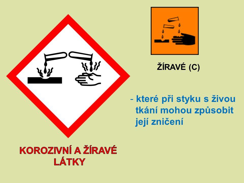 korozivní a žíravé látky