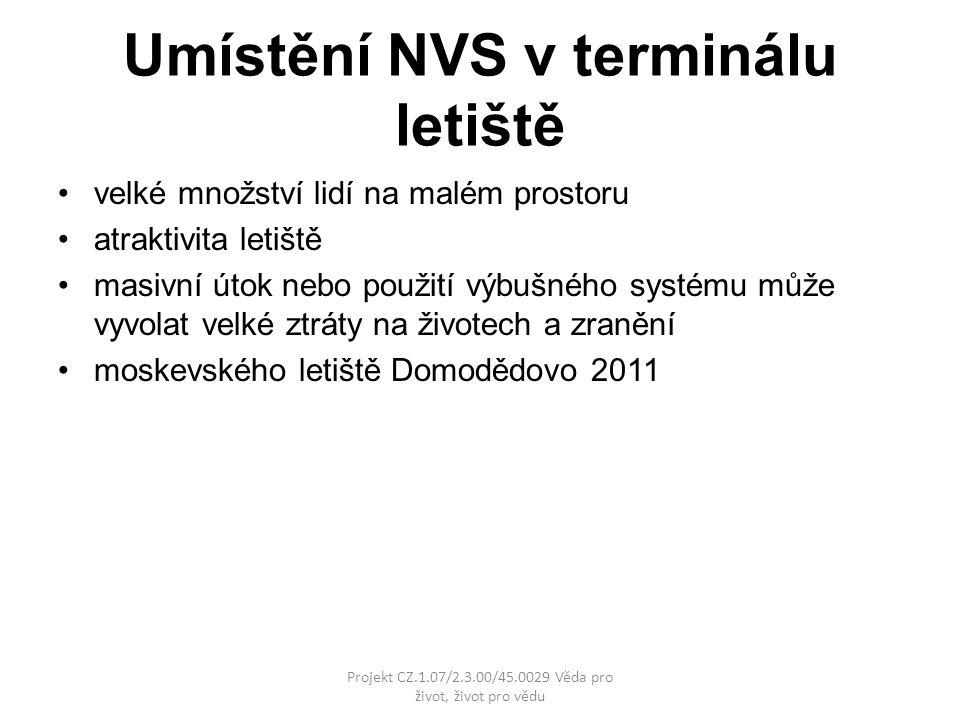 Umístění NVS v terminálu letiště