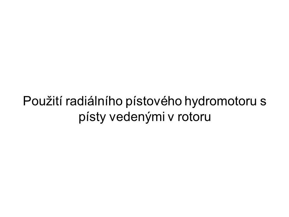 Použití radiálního pístového hydromotoru s písty vedenými v rotoru
