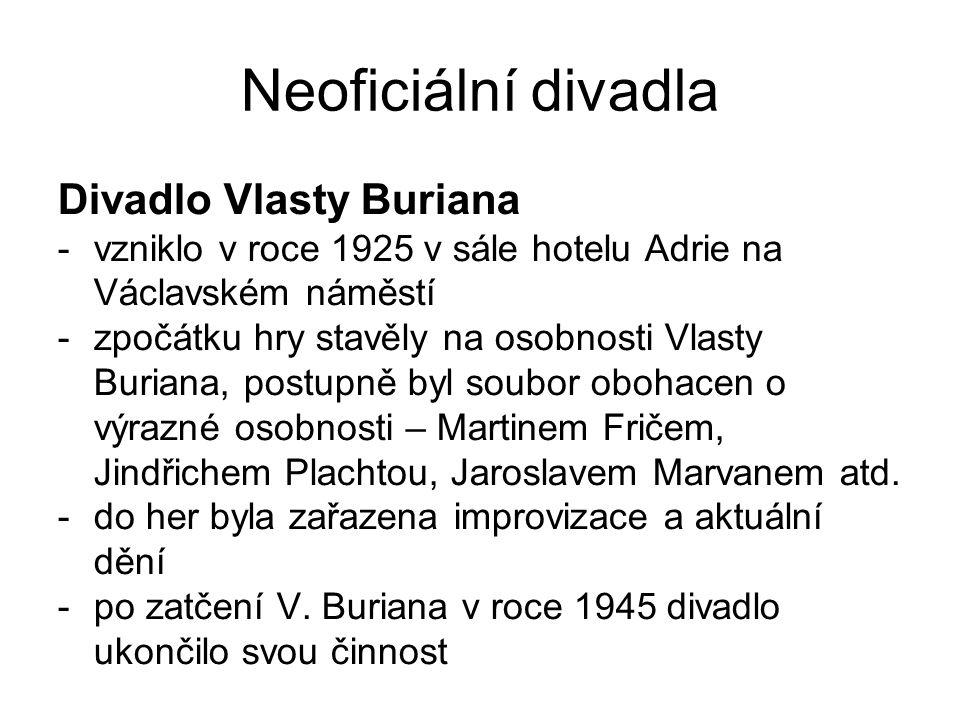 Neoficiální divadla Divadlo Vlasty Buriana