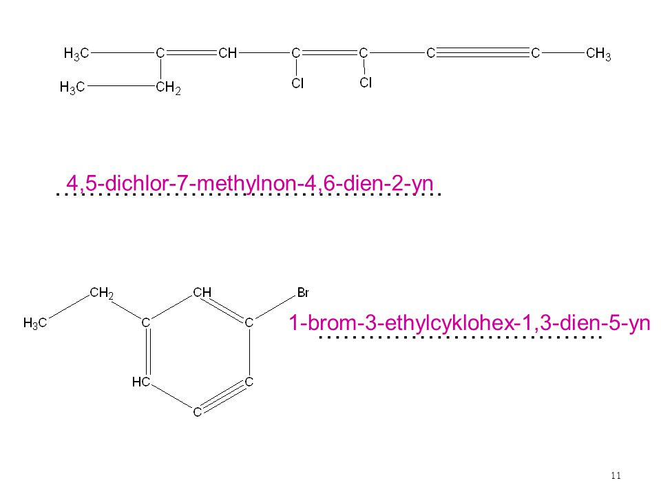 ………………………………………. ……………………………. 4,5-dichlor-7-methylnon-4,6-dien-2-yn