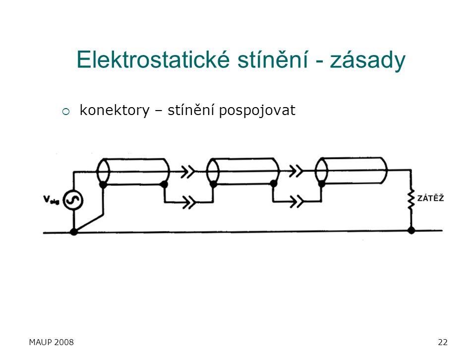 Elektrostatické stínění - zásady