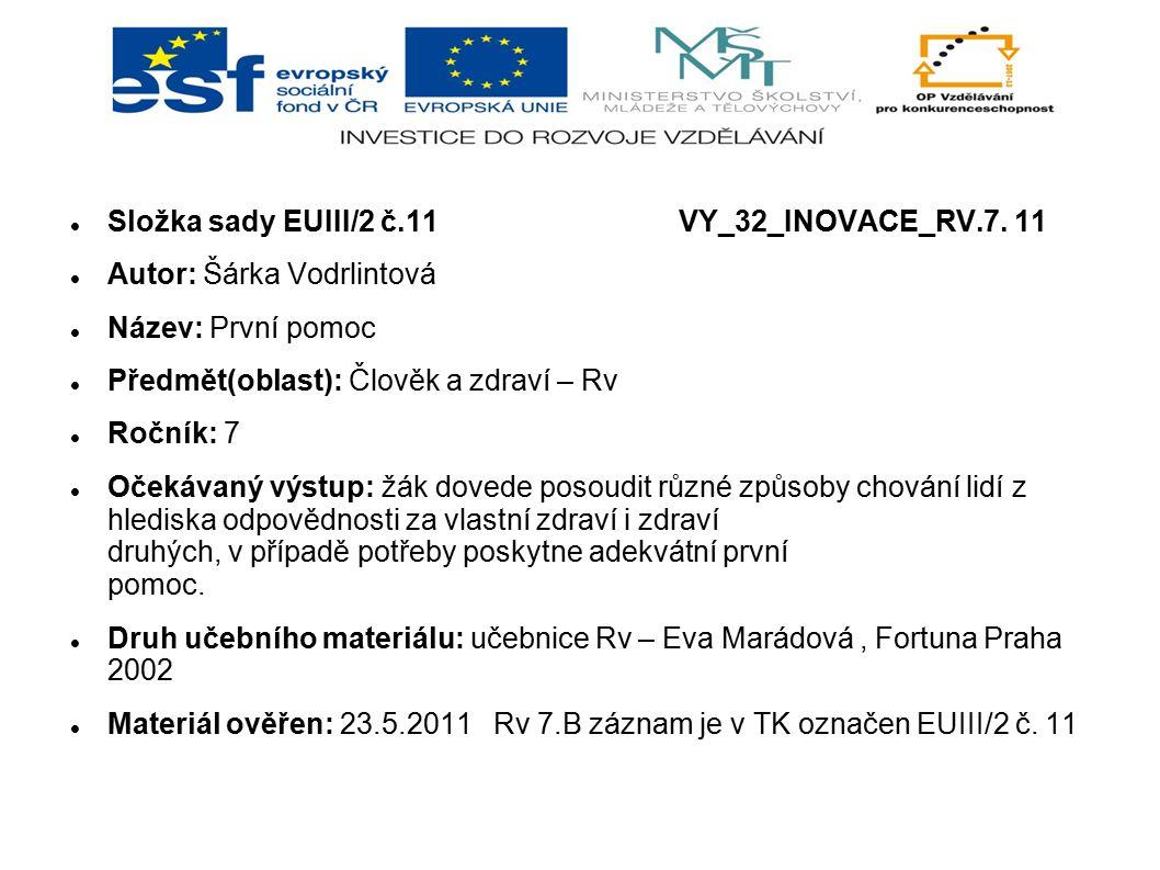 Složka sady EUIII/2 č.11 VY_32_INOVACE_RV.7. 11