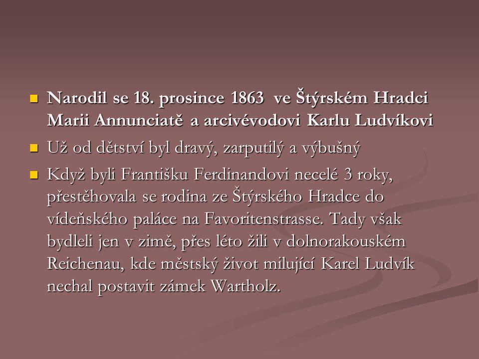 Narodil se 18. prosince 1863 ve Štýrském Hradci Marii Annunciatě a arcivévodovi Karlu Ludvíkovi