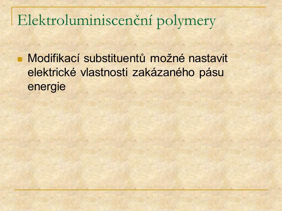 Elektroluminiscenční polymery
