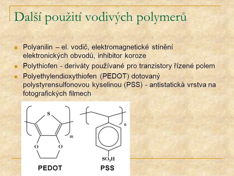 Další použití vodivých polymerů