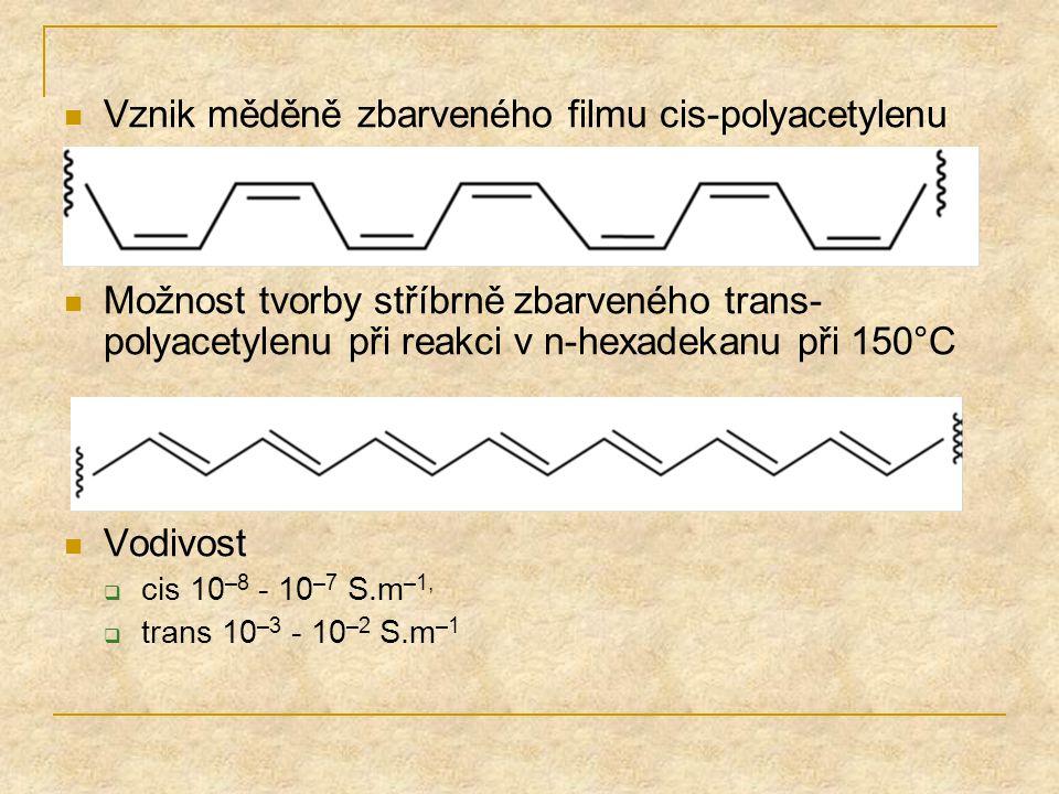 Vznik měděně zbarveného filmu cis-polyacetylenu