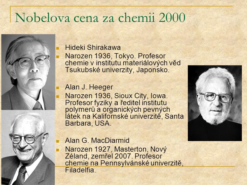 Nobelova cena za chemii 2000