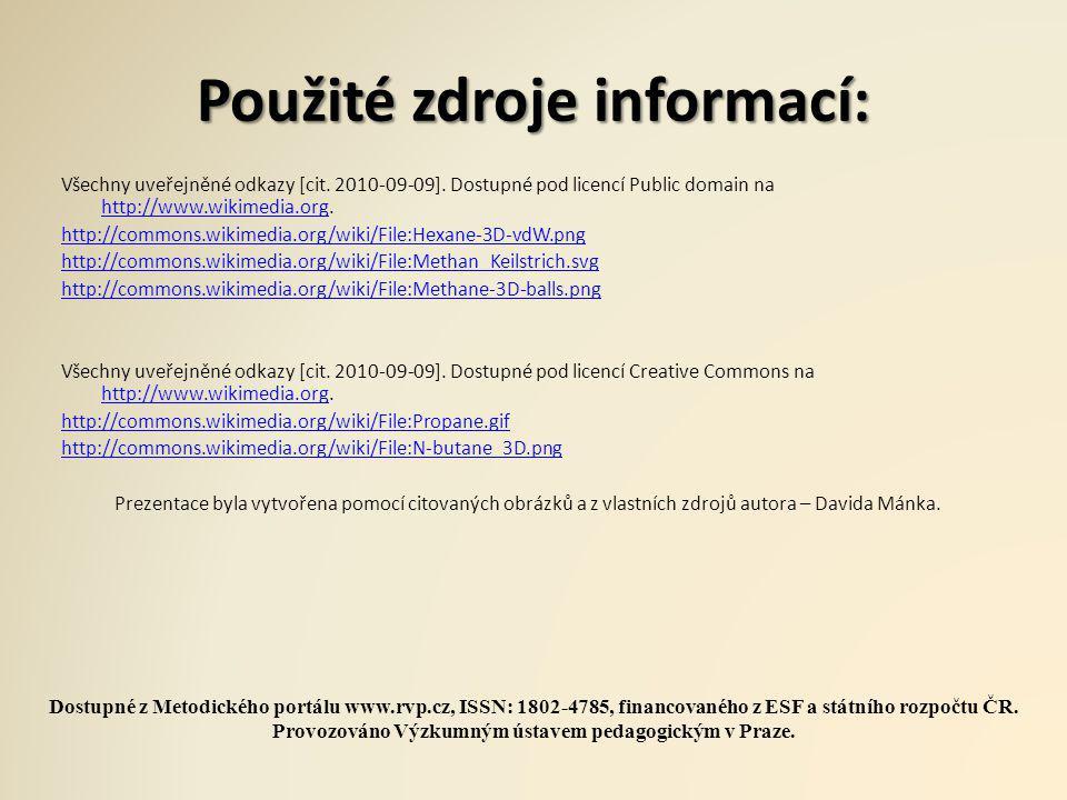 Použité zdroje informací: