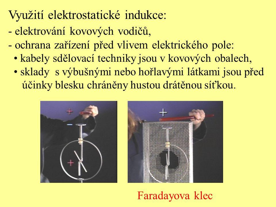 Využití elektrostatické indukce: