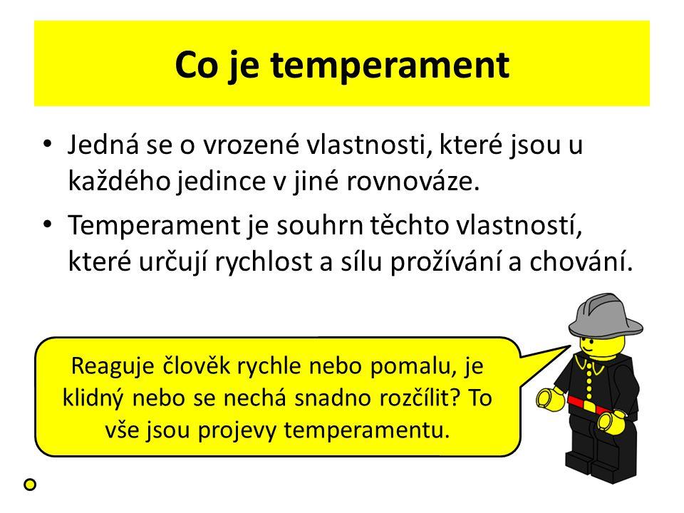 Co je temperament Jedná se o vrozené vlastnosti, které jsou u každého jedince v jiné rovnováze.
