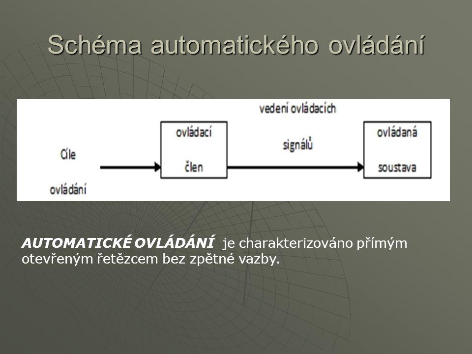 Schéma automatického ovládání