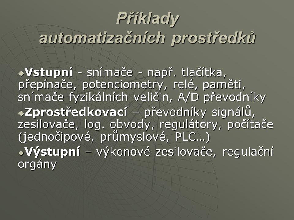 Příklady automatizačních prostředků
