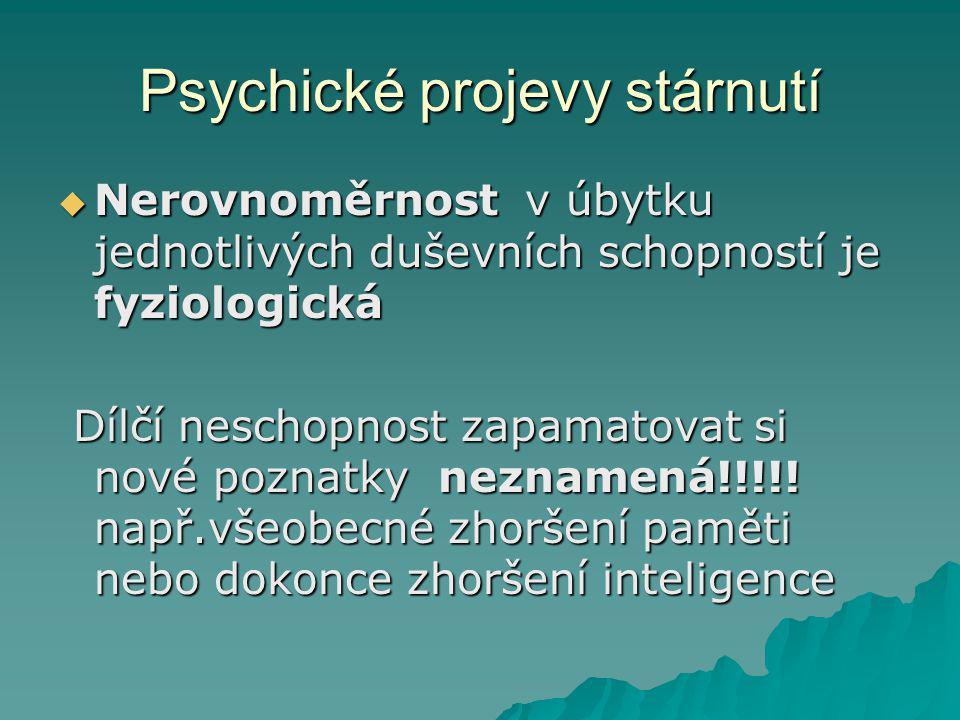 Psychické projevy stárnutí