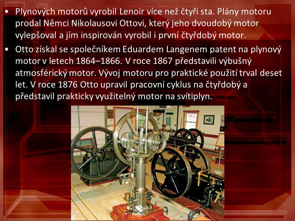 Plynových motorů vyrobil Lenoir více než čtyři sta