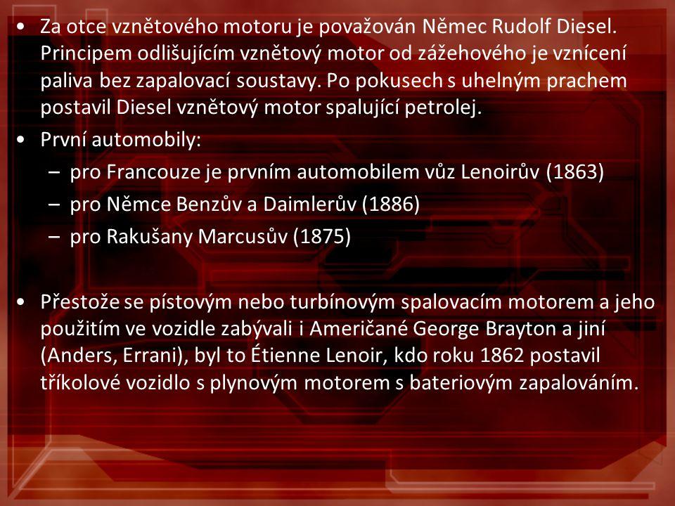 Za otce vznětového motoru je považován Němec Rudolf Diesel