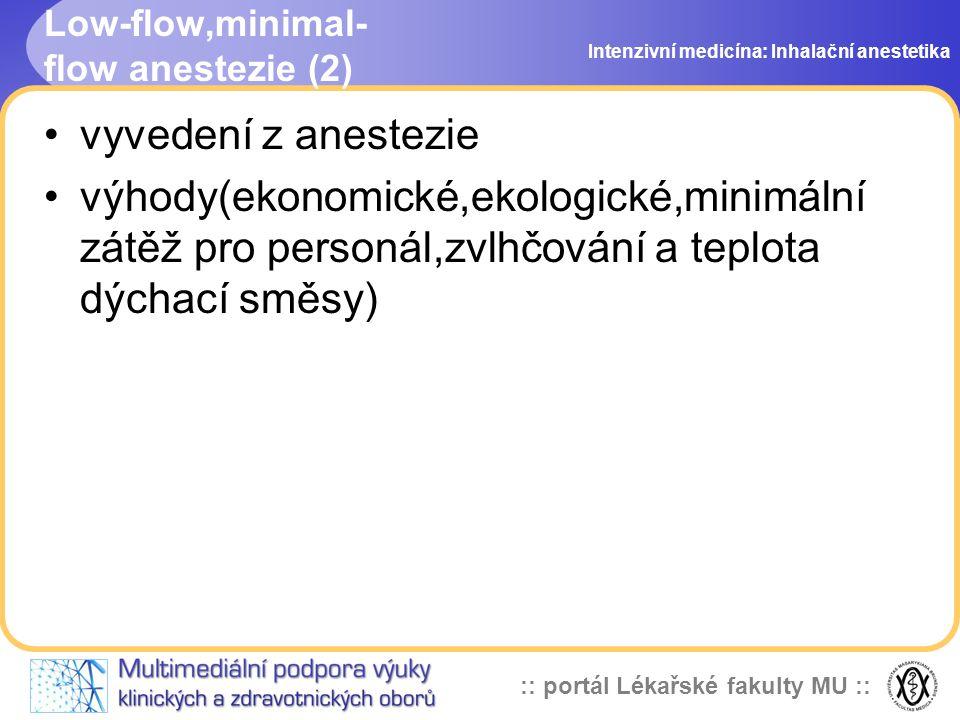 Low-flow,minimal-flow anestezie (2)