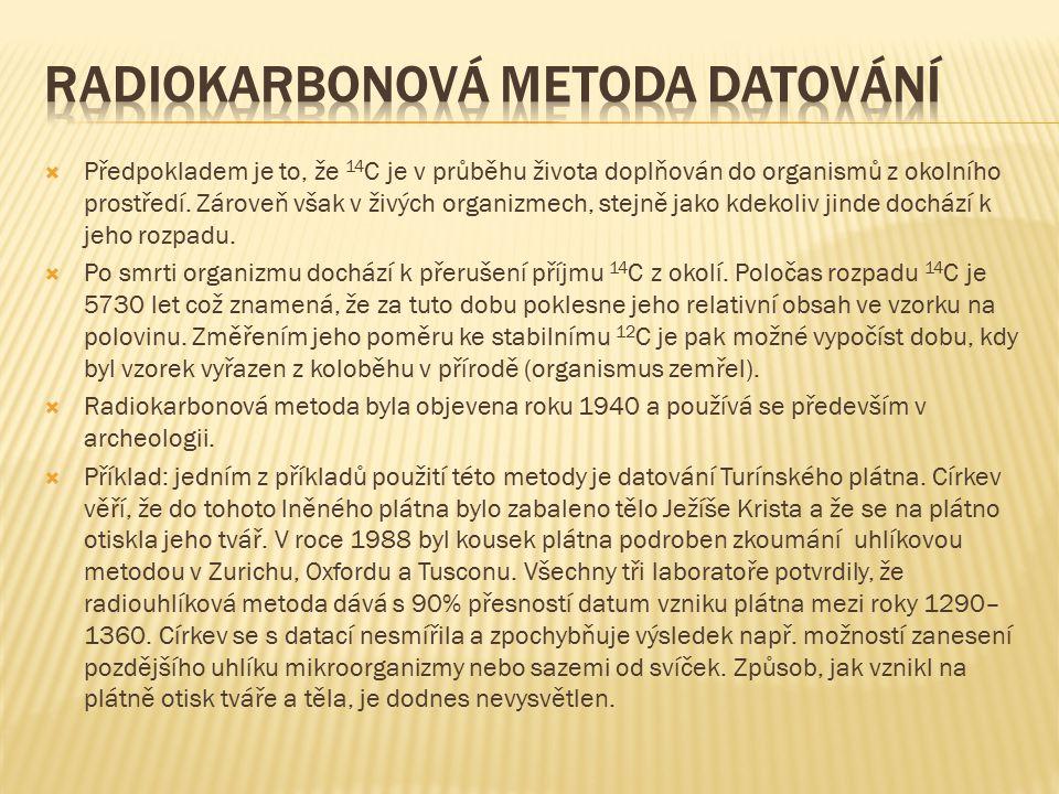 Radiokarbonová metoda datování