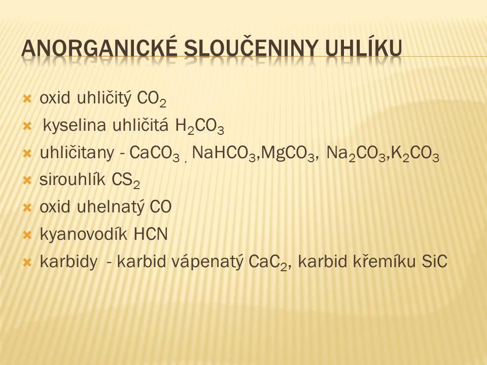 Anorganické sloučeniny uhlíku